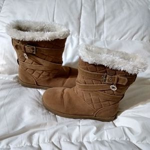 Guess boots with faux fur trim